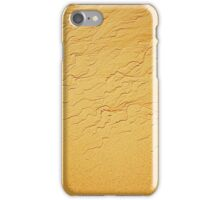 Travel background with wave sand texture iPhone Case/Skin