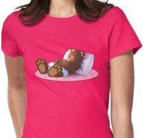 Sleeping Ted - Pink Womens Fitted T-Shirt