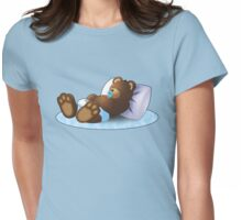 Sleeping Ted - Blue Womens Fitted T-Shirt