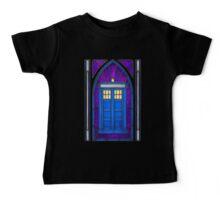 Stained Glass Series - TARDIS Baby Tee