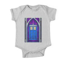 Stained Glass Series - TARDIS One Piece - Short Sleeve
