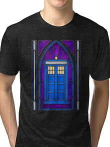 Stained Glass Series - TARDIS Tri-blend T-Shirt