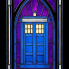 Stained Glass Series - TARDIS by ianleino