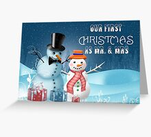 Our First Christmas As Mr. and Mrs. Greeting Card