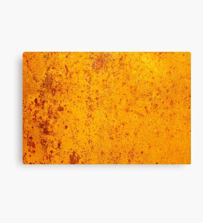 Rusty orange grunge texture Canvas Print