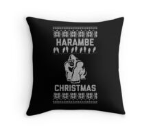 Harambe Christmas - Perfect Way To Remember One of Our Heroes Throw Pillow