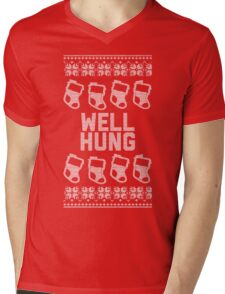 Well Hung - Stockings, of course... Mens V-Neck T-Shirt