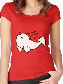 Red Devil Baby Harp Seal Women's Fitted Scoop T-Shirt