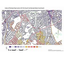Multiple Deprivation South Camberwell ward, Southwark Photographic Print