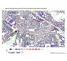 Multiple Deprivation South Bermondsey ward, Southwark Photographic Print