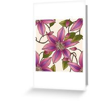 Clematis Vine Greeting Card