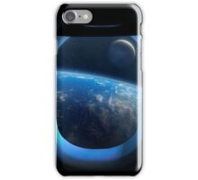 Earth and Moon From Orbit iPhone Case/Skin