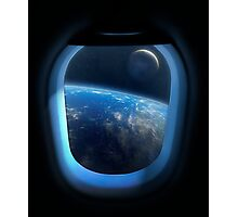 Earth and Moon From Orbit Photographic Print