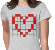 puzzle of heart Womens Fitted T-Shirt