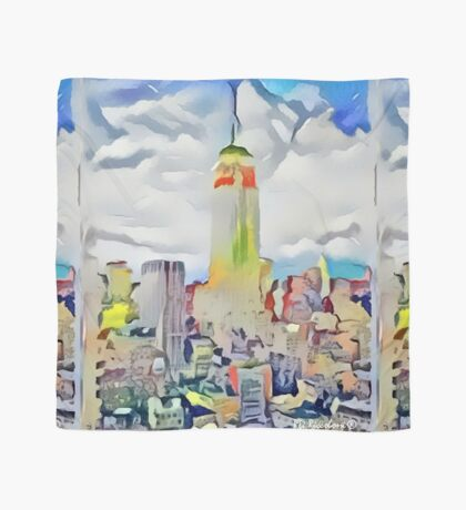 Empire State Building New York City Abstract by RD Riccboni Scarf