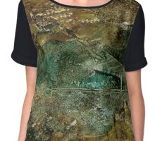Grasshopper | Alcohol Ink Abstract Chiffon Top