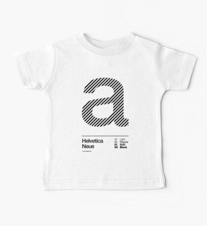 a .... Helvetica Neue (b) Baby Tee