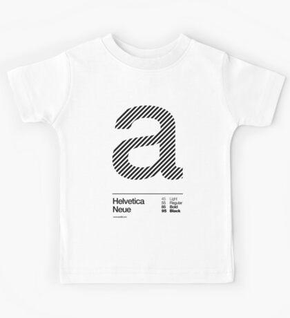 a .... Helvetica Neue (b) Kids Tee