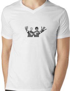 Bruce Lee & Ip Man Collaboration Black Variant Two Mens V-Neck T-Shirt