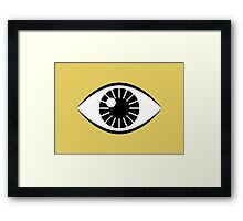 Eyes Wide Open - Mustard Yellow Framed Print