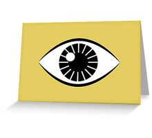 Eyes Wide Open - Mustard Yellow Greeting Card