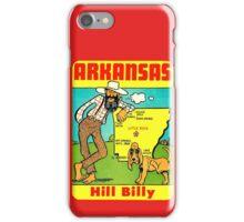 Arkansas State Map Vintage Travel Decal iPhone Case/Skin