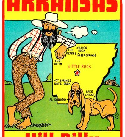 Arkansas State Map Vintage Travel Decal Sticker
