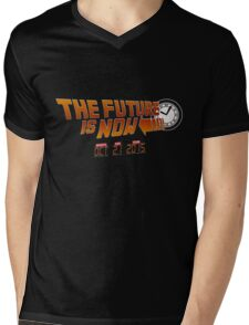"""""""The Future is Now"""" - BTTF Mens V-Neck T-Shirt"""
