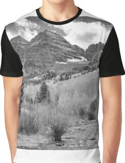 Maroon Bells Monochrome Graphic T-Shirt