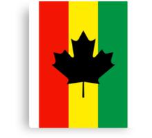 Rasta Reggae Maple Leaf Flag Canvas Print