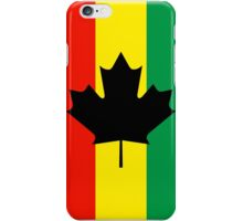 Rasta Reggae Maple Leaf Flag iPhone Case/Skin