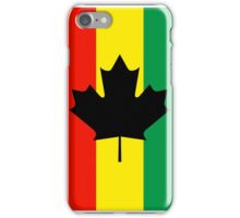Rasta Reggae Maple Leaf Flag iPhone Case/Skin
