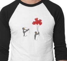 Penguin Valentine Men's Baseball ¾ T-Shirt