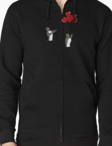 Penguin Valentine Zipped Hoodie