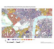 Multiple Deprivation St James's ward, City of London Photographic Print