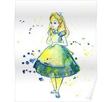 Pretty Girl In Blue Dress  Poster