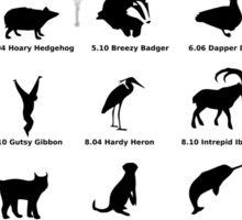 ubuntu linux releases pets black ed. Sticker