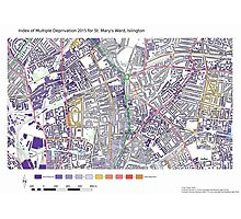 Multiple Deprivation St Mary's ward, Islington Photographic Print