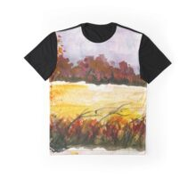 Whispering Grove, Watercolor Landscape Art Graphic T-Shirt