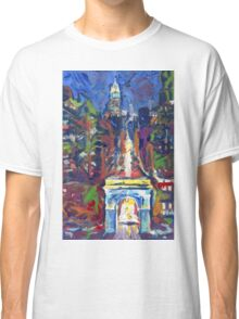 New York City, Washington Square and Fifth Avenue by Riccoboni Classic T-Shirt