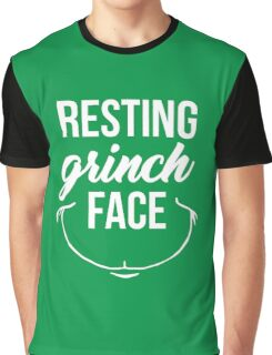 Resting Grinch Face Graphic T-Shirt
