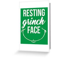 Resting Grinch Face Greeting Card