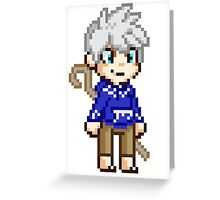 Stay Frosty - Jack Frost Pixel Greeting Card