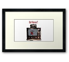 Got Horror?- Red and Black Edition Framed Print