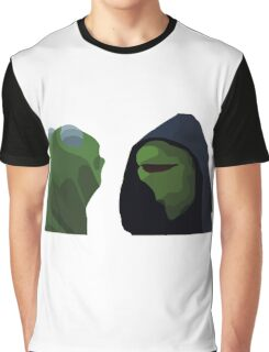 Evil Kermit Meme Graphic T-Shirt