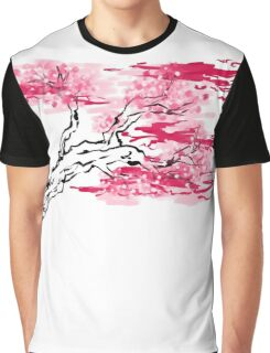 Sakura Tree Graphic T-Shirt