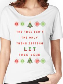 Christmas Tree - get lit Women's Relaxed Fit T-Shirt