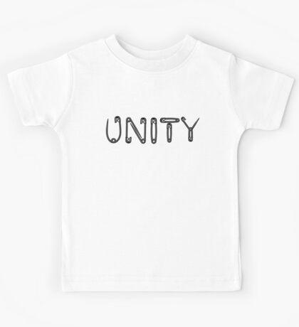 Black Unity Safety Pins Kids Tee