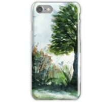 A Lovely Day, Watercolor Landscape Art  iPhone Case/Skin