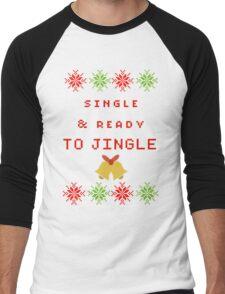 Single and Ready to Mingle (JINGLE) Men's Baseball ¾ T-Shirt